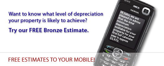 Free tax depreciation estimate for your investment property to your mobile